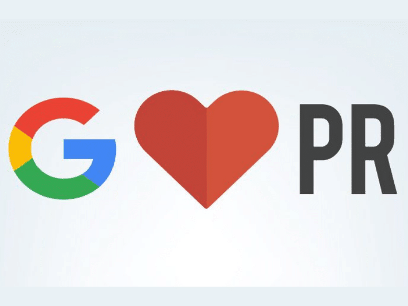 Google Loves PR Feature