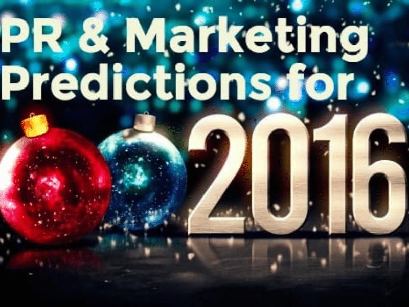 2016 PR & Marketing Predictions Feature