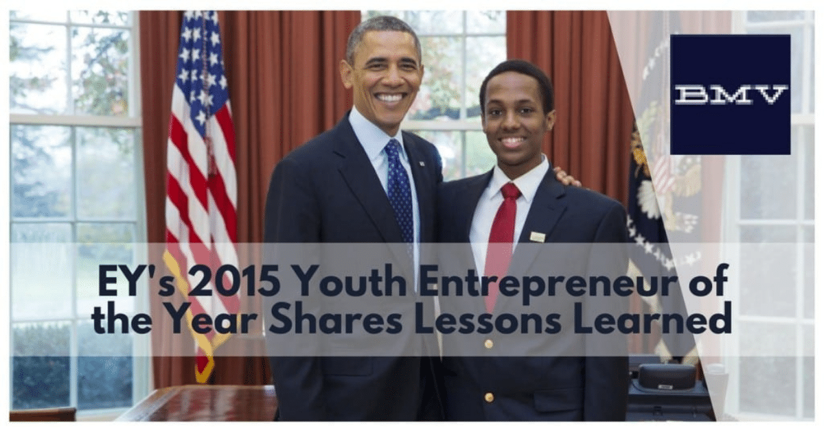 EY's 2015 Youth Entrepreneur of the Year